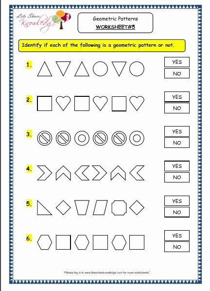 Number Patterns Worksheets Grade 6 Inspirational Grade 3 Maths Worksheets 14 9 Geometry Geometric Patterns