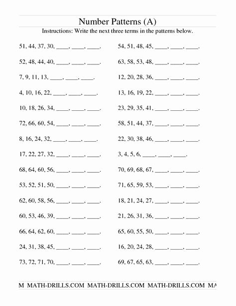Number Patterns Worksheets Grade 6 Kids Grade 6 Math Worksheets Number Patterns Post Date 20 Dec