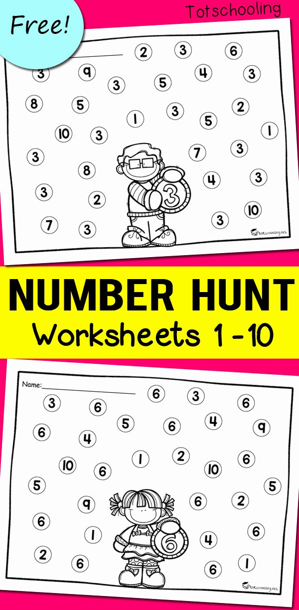 Number Recognition Worksheets 1 20 top Number Recognition Worksheets