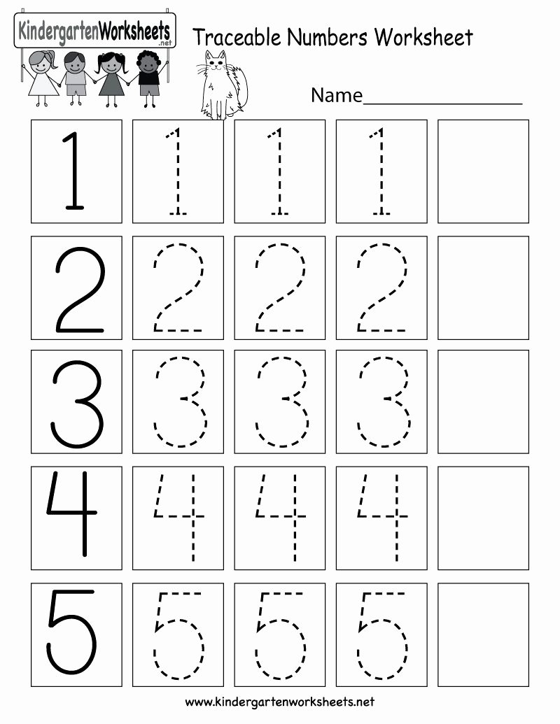 Number Tracing Worksheets for Kindergarten Fresh Number Tracing Worksheets for Preschoolers In 2020
