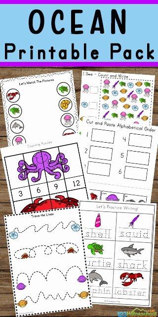 Ocean Worksheets for 2nd Grade Best Of Free Ocean Worksheets for Pre K Kindergarten Grade 1 & 2