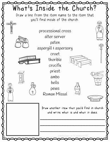 Order Of the Mass Worksheet Kids Religion