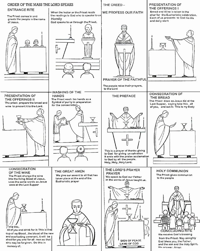 Order Of the Mass Worksheet New Pin On Religious Ed