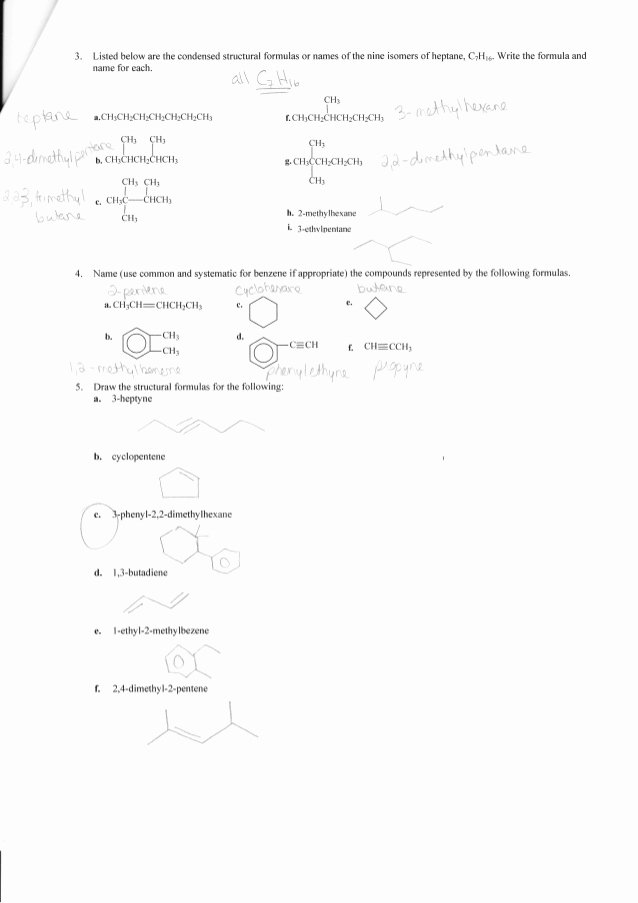Organic Chemistry Worksheet with Answers Fresh Plete organic Chemistry Worksheet Answers Chem Active
