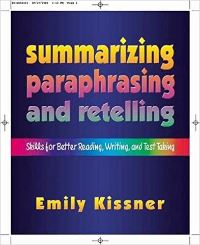 Paraphrasing Worksheets for Middle School Printable Amazon Summarizing Paraphrasing and Retelling Skills