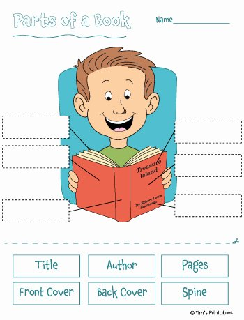 Parts Of A Book Worksheet Best Of Parts Of A Book Worksheet Tim S Printables