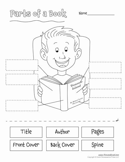 Parts Of A Book Worksheet Free Parts Of A Book Worksheet for Kids