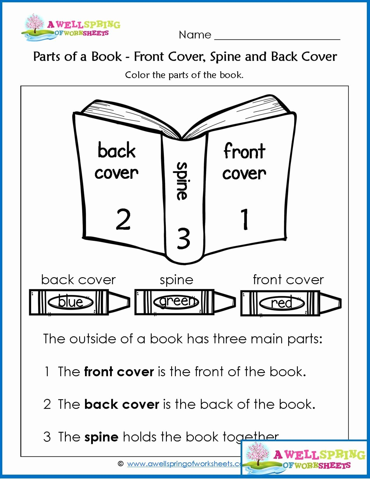 Parts Of A Book Worksheet Lovely Worksheets by Subject