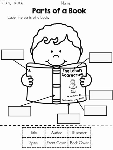 Parts Of A Book Worksheet Printable Fall Literacy Worksheets No Prep Distance Learning