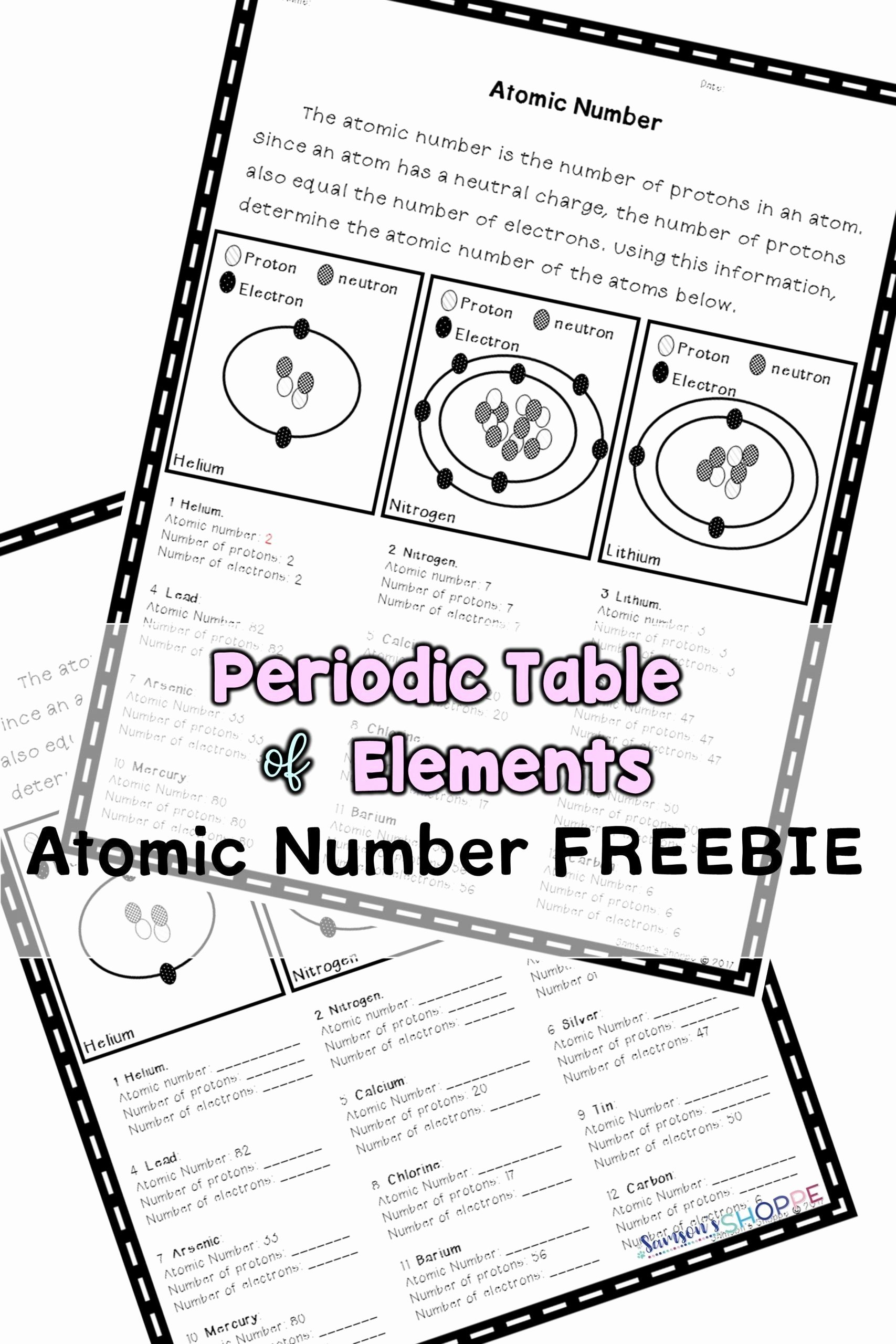 Parts Of An atom Worksheet New Parts An atom Worksheet atomic Number Review Activity In