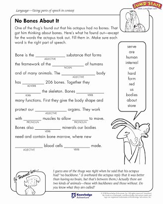 Parts Of Speech Printable Worksheets Best Of Parts Of Speech Free Worksheets 5th Grade