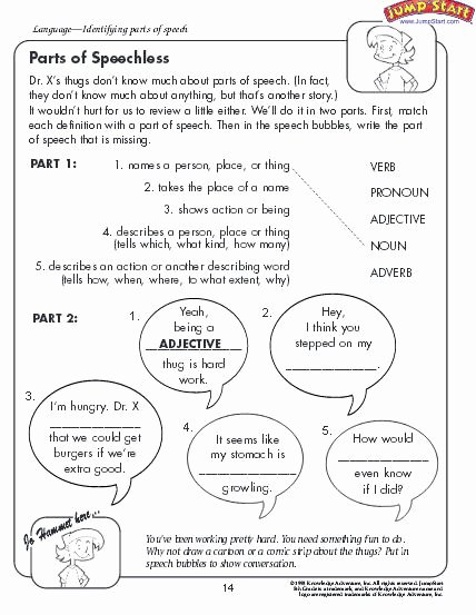 Parts Of Speech Review Worksheet Ideas Parts Of Speech Worksheet Download