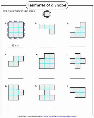 Perimeter Worksheet for 3rd Grade Ideas Perimeter Worksheets