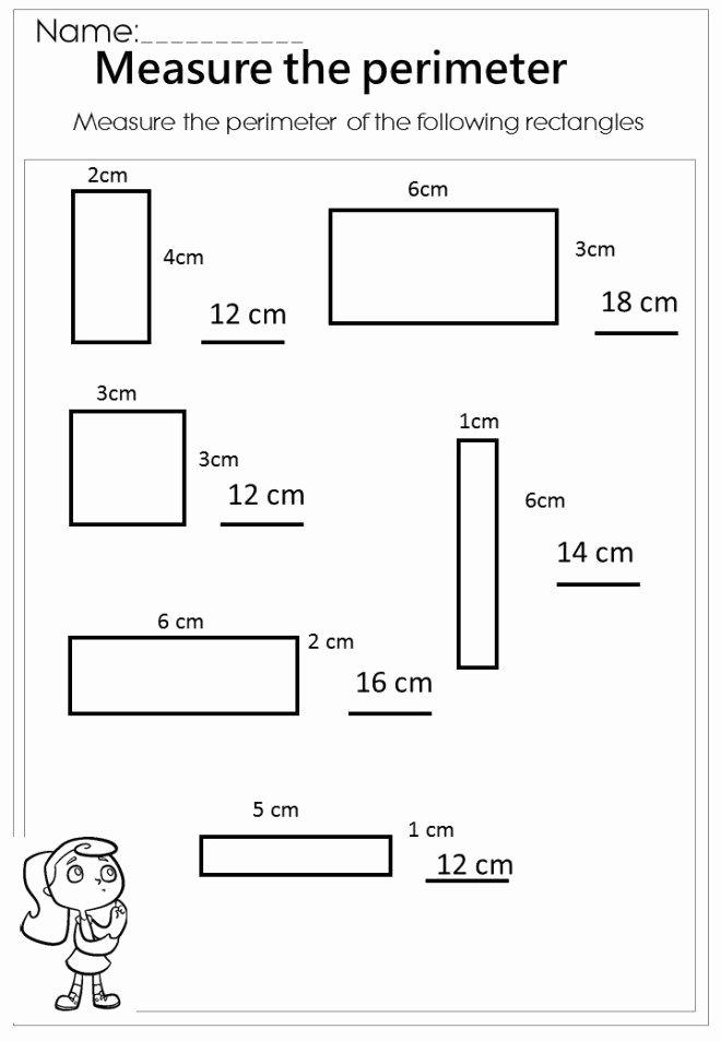 Perimeter Worksheets for 3rd Grade Free Measuring area and Perimeter Worksheets