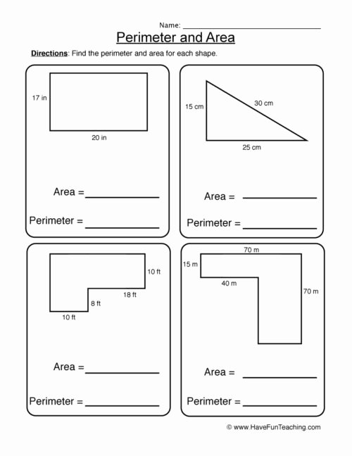 Perimeter Worksheets for 3rd Grade Ideas Perimeter Worksheets • Have Fun Teaching