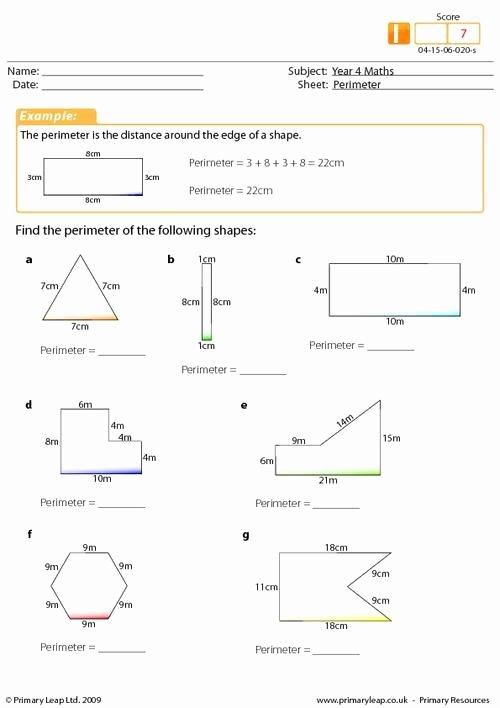 Perimeter Worksheets for 3rd Grade Lovely Year Maths Perimeter Worksheet Intermediate Math Worksheets