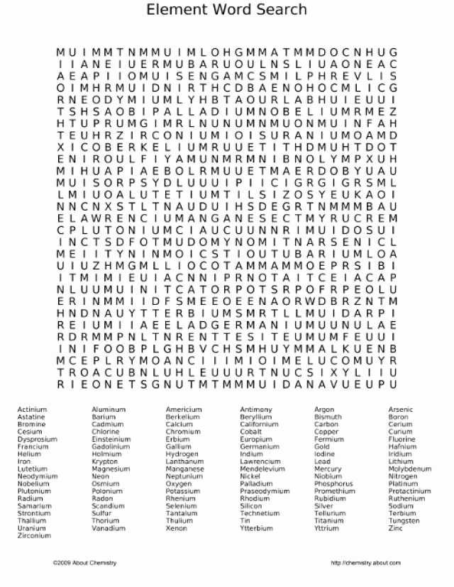 Periodic Table Puzzle Worksheet Answers Fresh Review the Periodic Table with A Fun Element Word Search