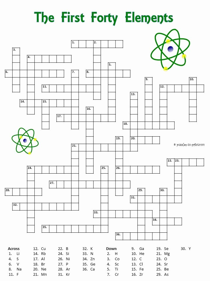 Periodic Table Puzzle Worksheet Answers Kids Periodic Table Puzzle Worksheet Answers New 5 Fun Periodic