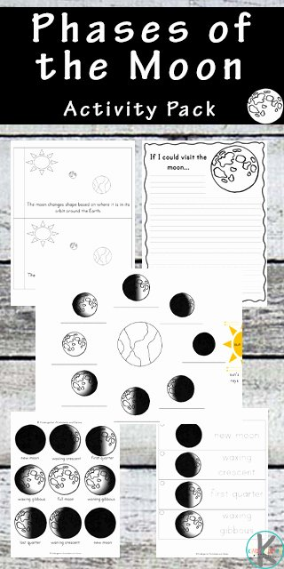 Phases Of the Moon Worksheet Kids Moon Worksheets for Kindergarten