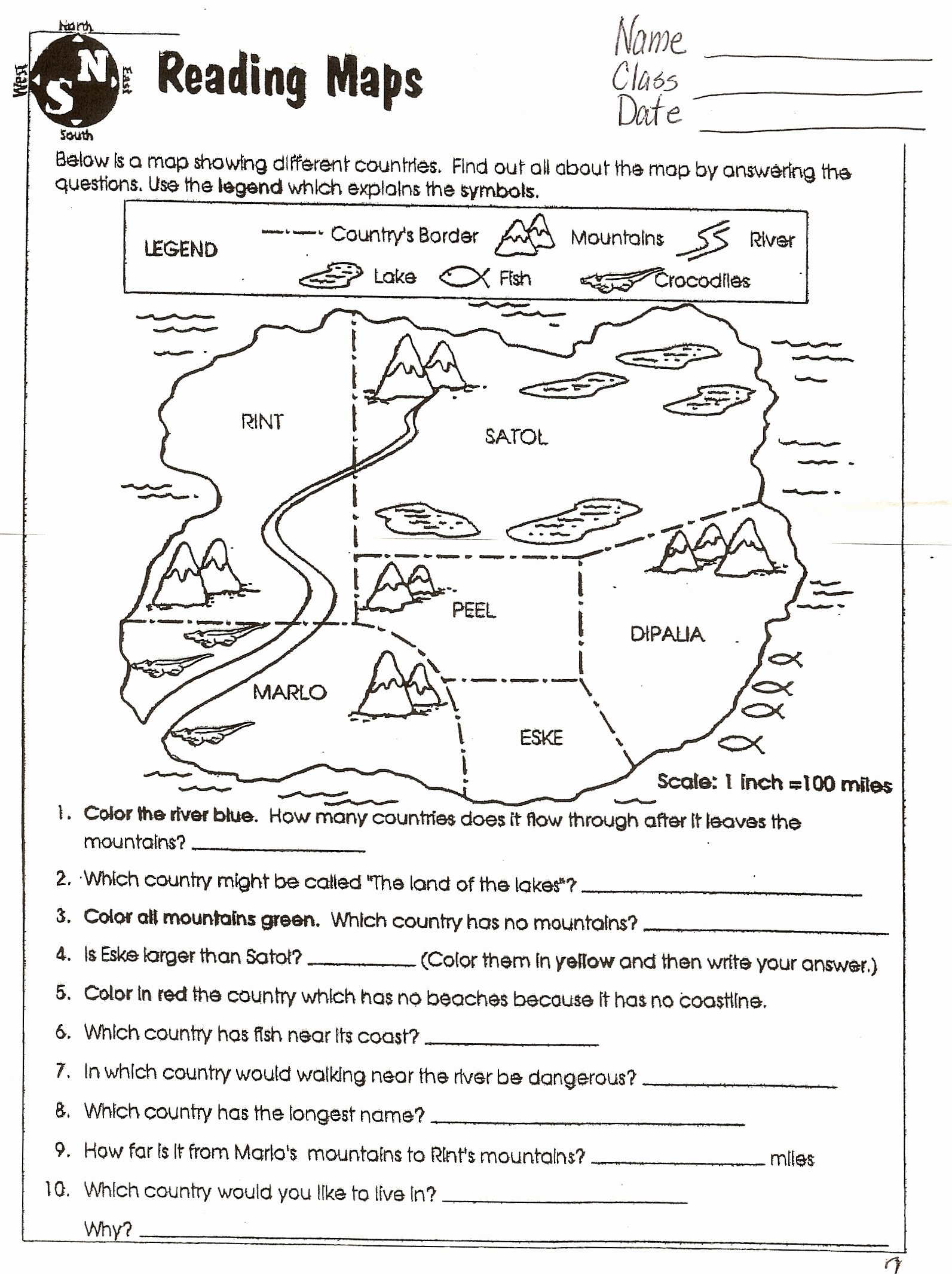 Physical and Political Maps Worksheets Best Of social Stu S Maps Worksheets