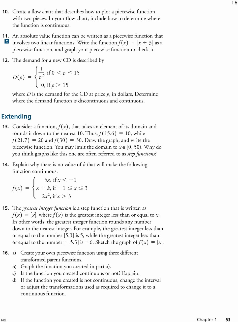 Piecewise Functions Word Problems Worksheet Fresh 1 6 Piecewise Functions Learn About the Math Representing
