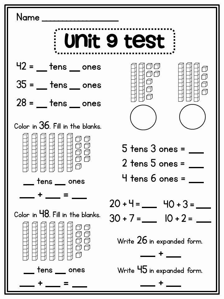 Place Value First Grade Worksheets Ideas Place Value In First Grade