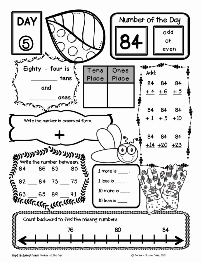 Place Value Worksheet 1st Grade Ideas Place Value Number Sense Practice the Morning Work 1st