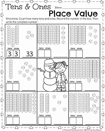 Place Value Worksheet First Grade Best Of 1st Grade Math and Literacy Worksheets for February