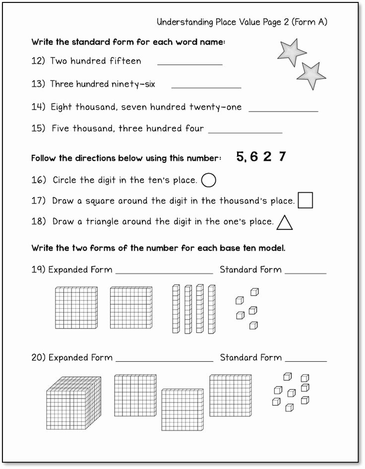 Place Value Worksheets 3rd Grade Best Of Place Value Worksheets Up to 4 Digit Numbers Printable and