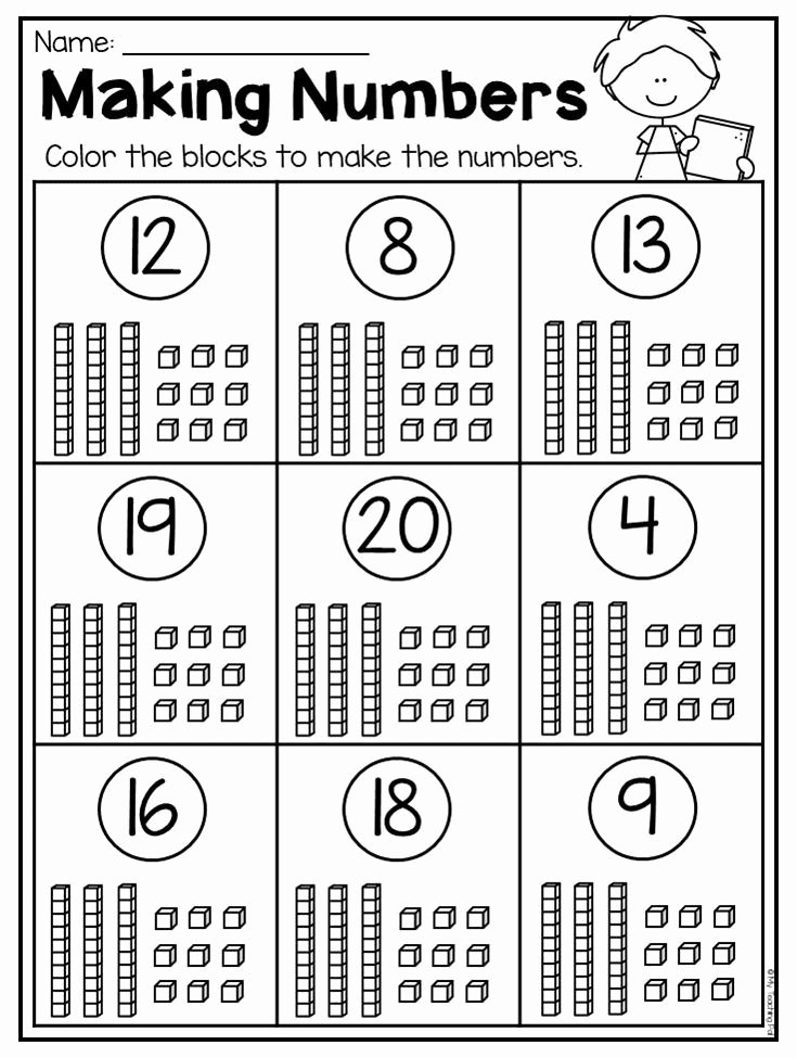 Place Value Worksheets for Kindergarten Best Of Kindergarten Place Value Worksheets