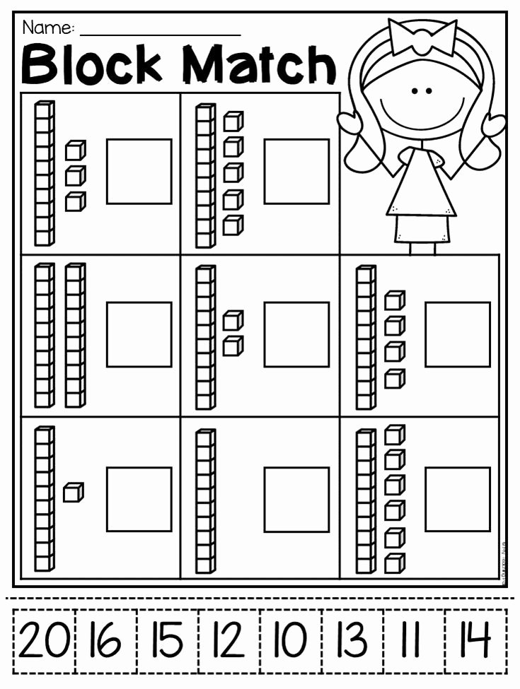 Place Value Worksheets for Kindergarten Inspirational Kindergarten Place Value Worksheets 2020
