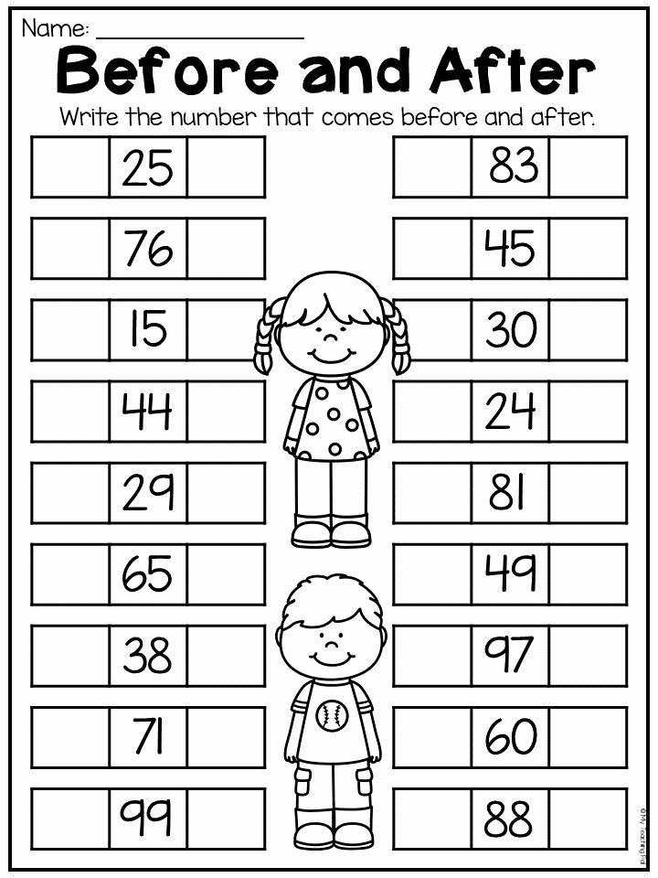 Place Value Worksheets for Kindergarten Printable First Grade Numbers and Place Value Worksheets Distance