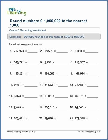 Place Value Worksheets Grade 5 Best Of Grade 5 Place Value Worksheet Round 6 Digit Numbers to the