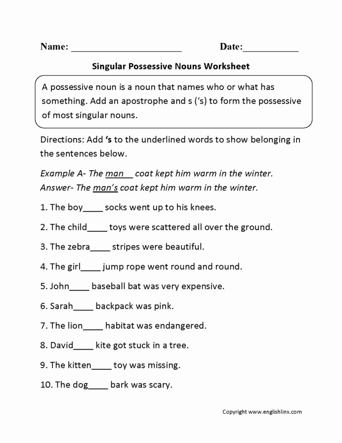 Plural Nouns Worksheet 5th Grade Free Singular and Plural Sentences Worksheets Schools Printable
