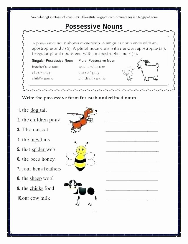 Plural Nouns Worksheet 5th Grade Inspirational Plural Nouns Worksheet 5th Grade Singular and Plural