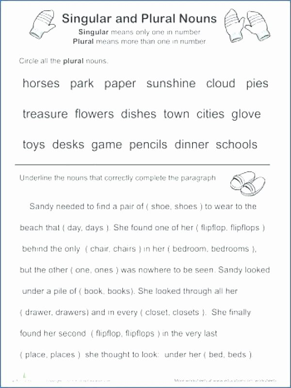 Plural Nouns Worksheet 5th Grade Kids Plural Nouns Worksheet 5th Grade Singular and Plural