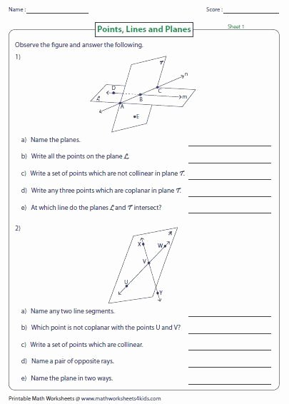 Points Lines and Planes Worksheet Fresh Points Lines and Planes Worksheet Beautiful 42 Best What S