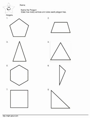 Polygon Worksheets for 2nd Grade Best Of Teach the Kids Polygons with these Nifty Worksheets for 2nd