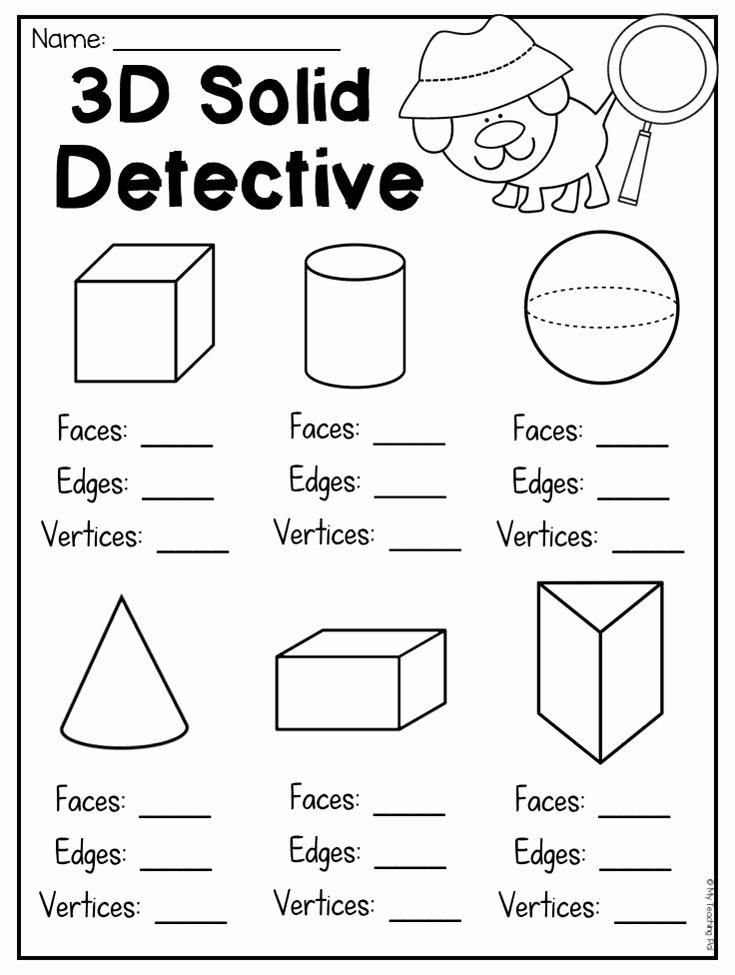 Polygon Worksheets for 2nd Grade Fresh First Grade 2d and 3d Shapes Worksheets Distance Learning