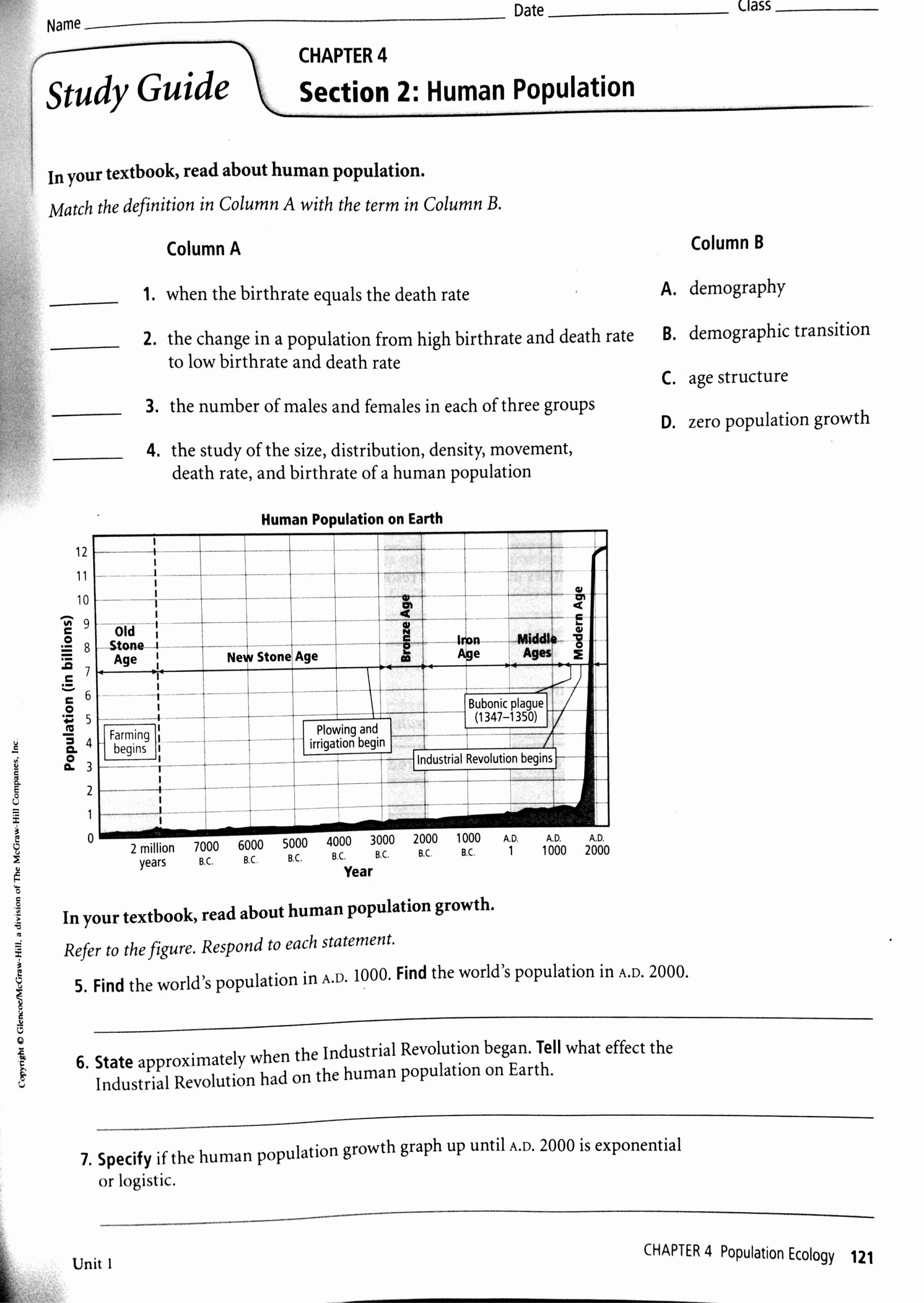 Populations and Communities Worksheet Answers New Population Munity Ecosystem Worksheet Nidecmege