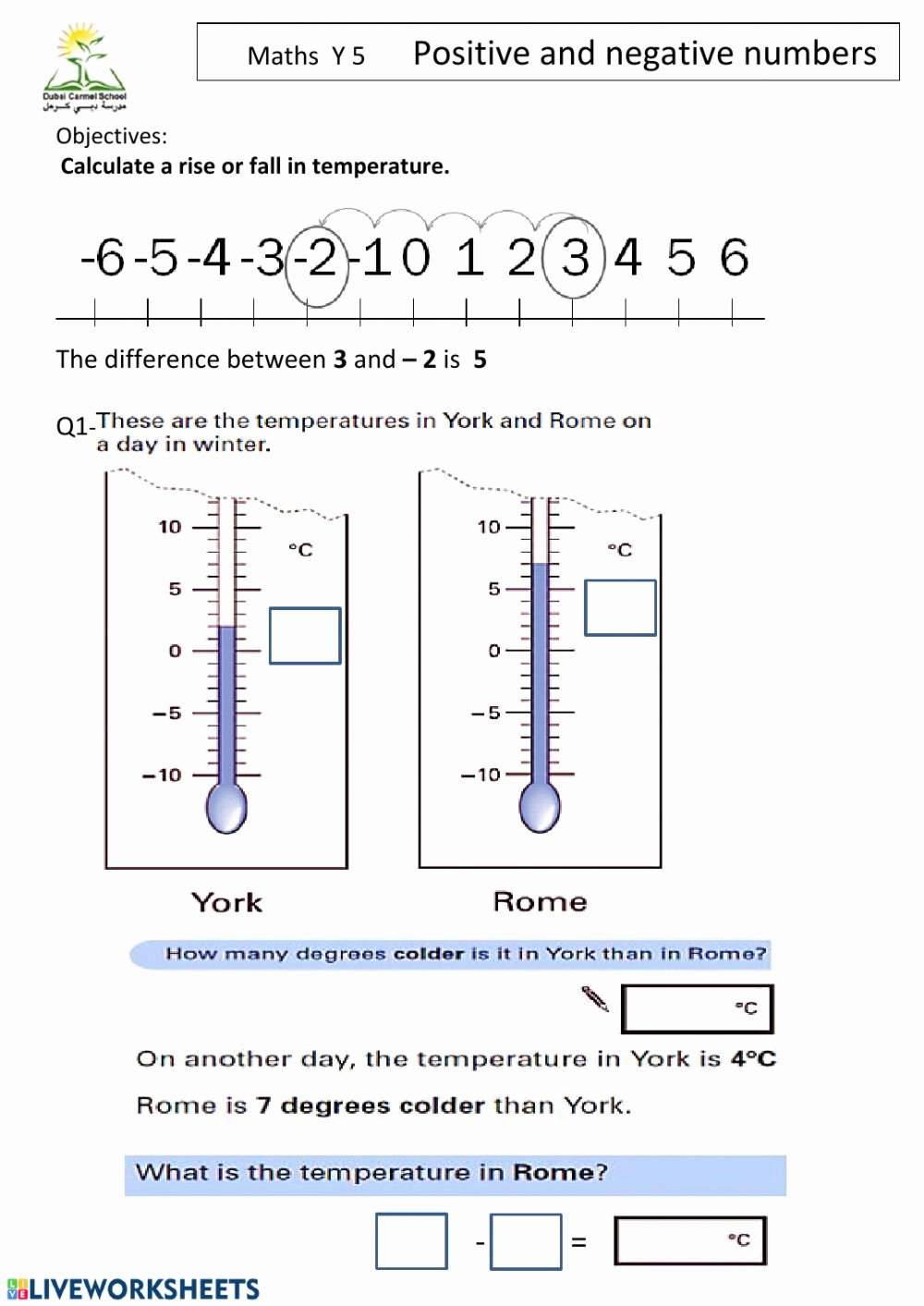 Positive and Negative Number Worksheets New Positive and Negative Numbers Worksheet