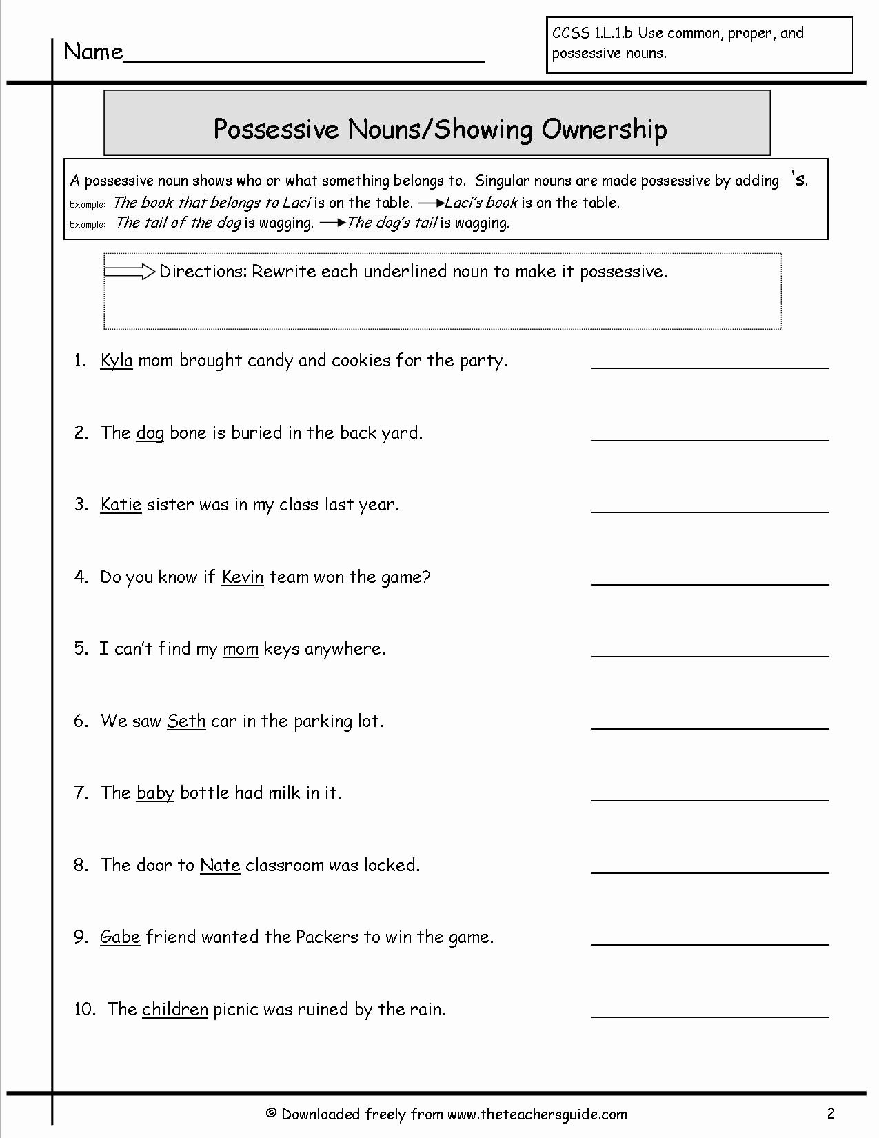 Possessive Noun Worksheet 2nd Grade Inspirational 37 Clever Possessive Nouns Worksheets Design S
