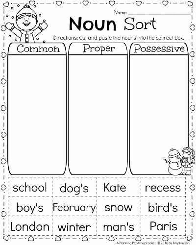 Possessive Nouns Worksheets 1st Grade Ideas 1st Grade Math and Literacy Worksheets for February