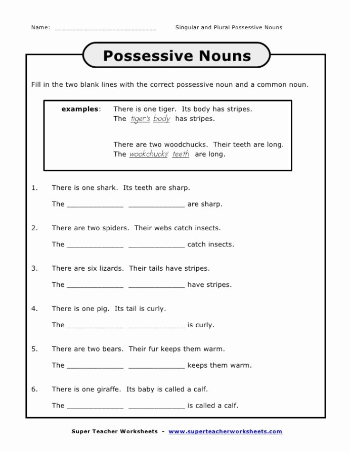Possessive Nouns Worksheets 1st Grade Inspirational Journeys Unit Lesson Possessive Nouns Lessons Tes Teach