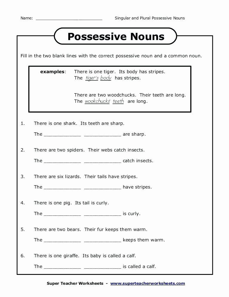 Possessive Pronoun Worksheet 3rd Grade Printable Possessive Nouns Worksheets 3rd Grade – Momami