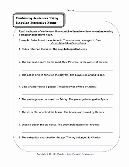 Possessive Pronoun Worksheets 5th Grade Printable Possessive Nouns Worksheets Grade 4 – Keepyourheadup