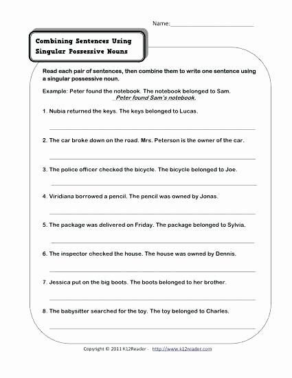 Possessive Pronouns Worksheet 5th Grade Free Possessive Nouns Worksheets Grade 4 – Keepyourheadup