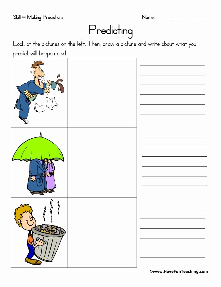 Prediction Worksheets for 2nd Grade Best Of Predicting Worksheet
