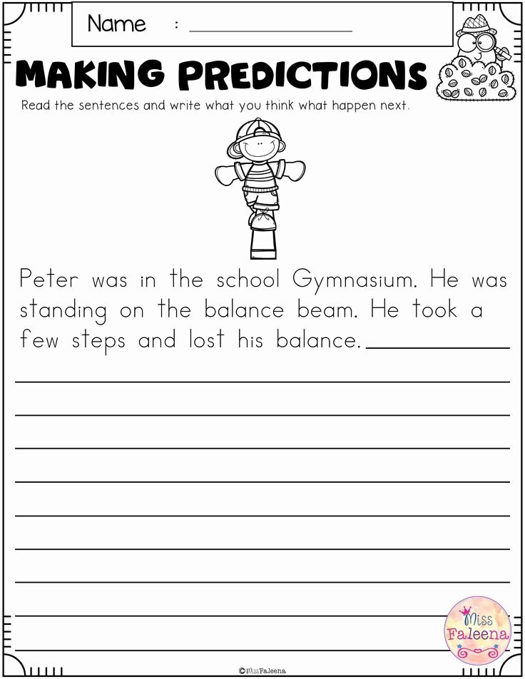 Prediction Worksheets for 2nd Grade Free Free Making Predictions