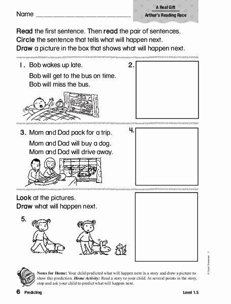Prediction Worksheets for 2nd Grade Lovely Predicting Worksheet for 1st 2nd Grade